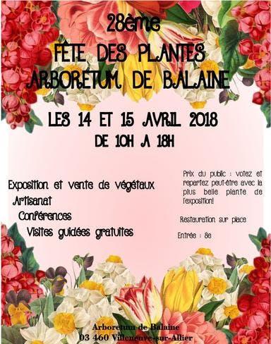 affiche fete des plantes arboretum de balaine