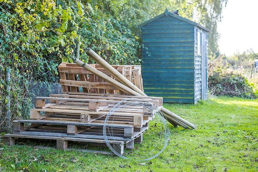 Palettes pour le composteur en bois