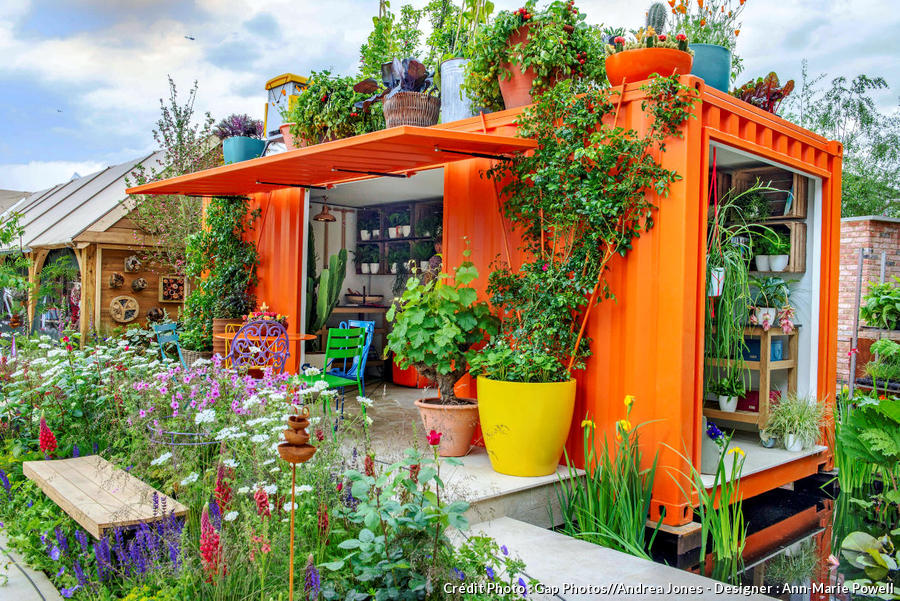 Aménager facilement un container maritime en abri de jardin ...