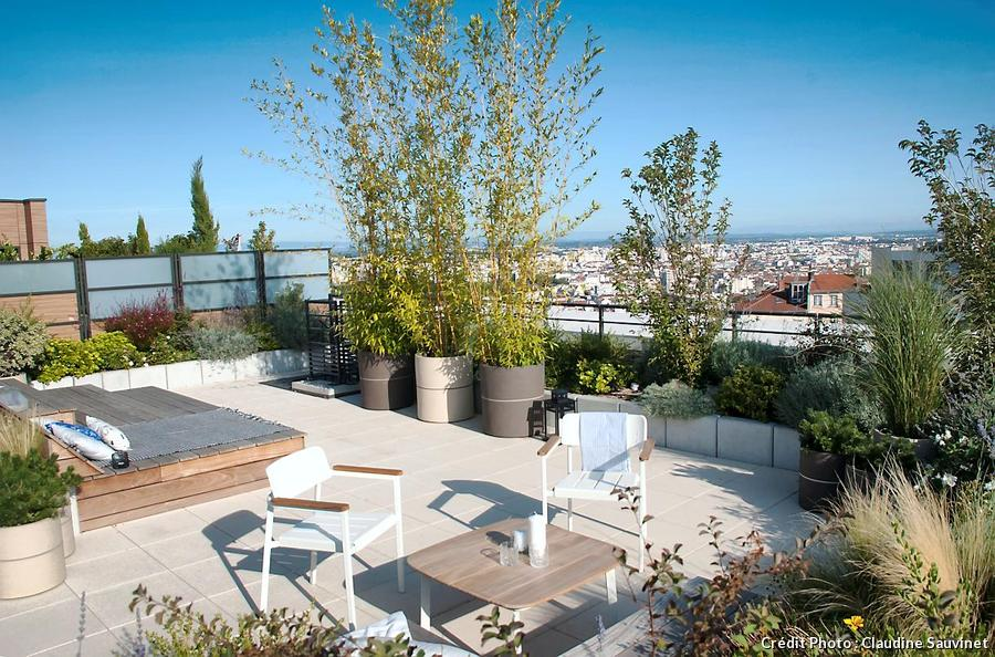 Terrasse avec Bambous