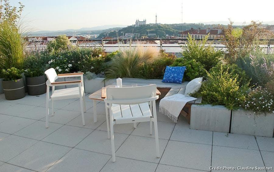 Terrasse avec salon