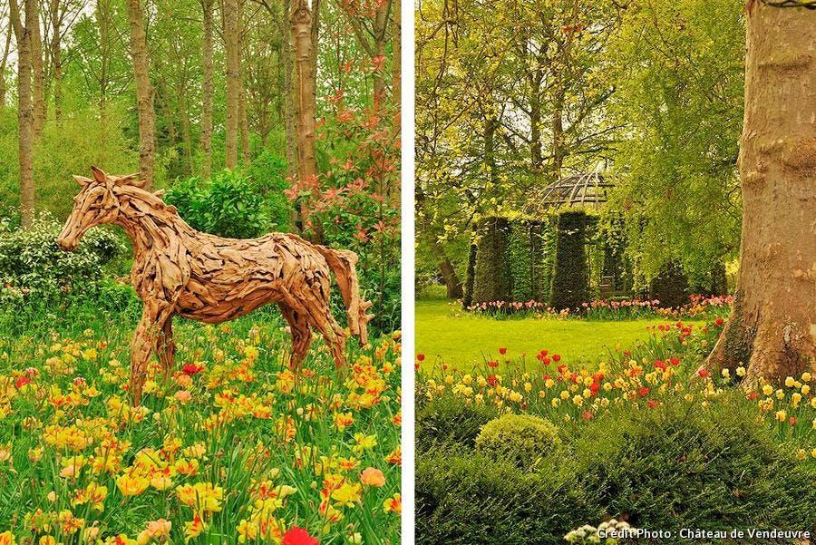 tulipes vendeuvre labyrinthe des champs et pavillons des paons