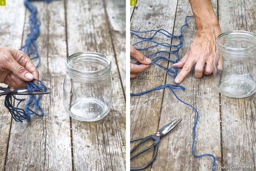 Créer des bouquets suspendus en macramé