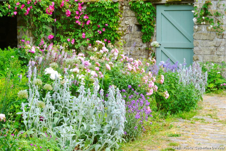 Jardin de style rural