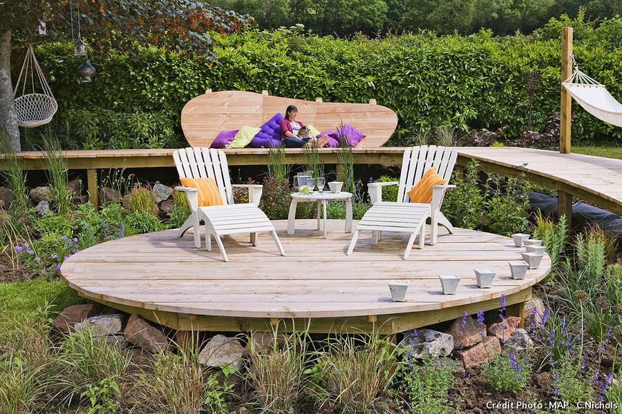 Creer Une Terrasse En Bois Sur Un Terrain En Pente Detente