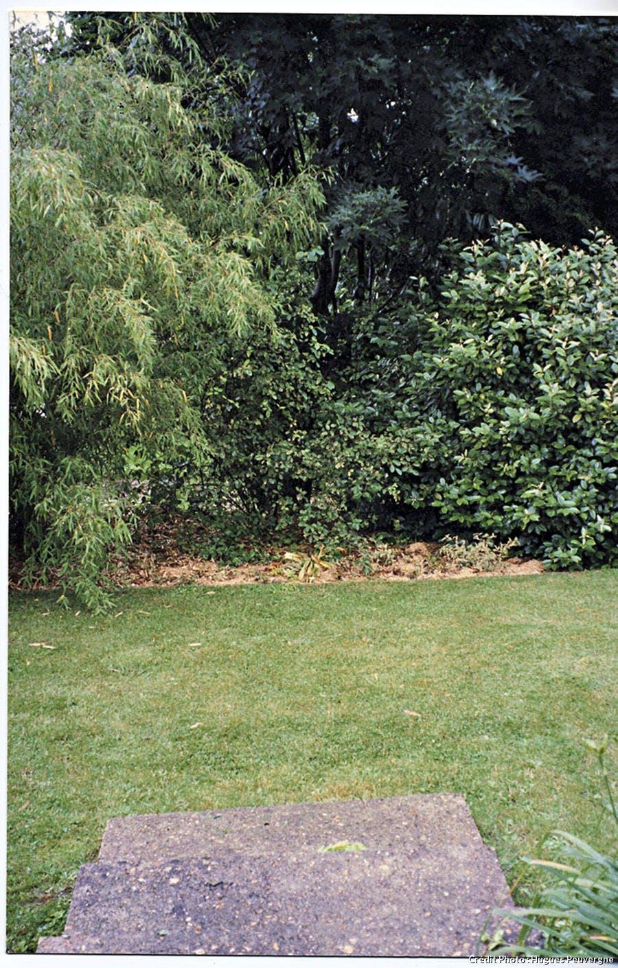 Jardin en pente, avant