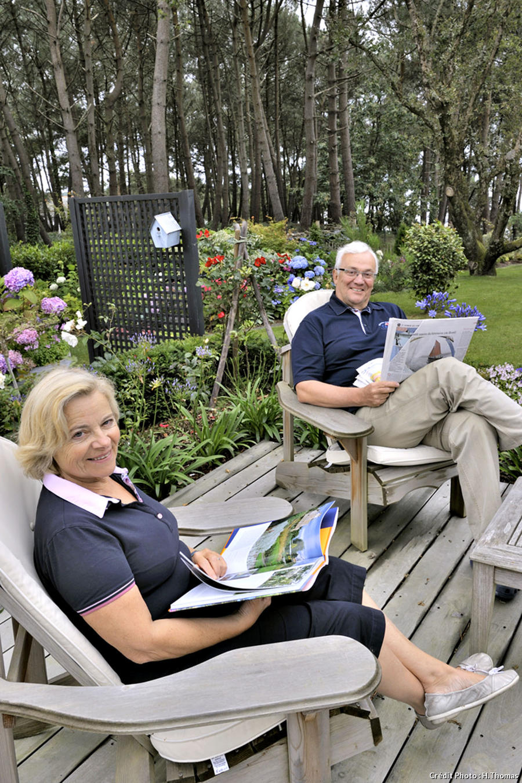 Couple du jardin breton