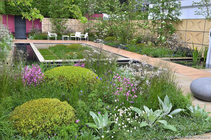 Un jardin en lignes douces