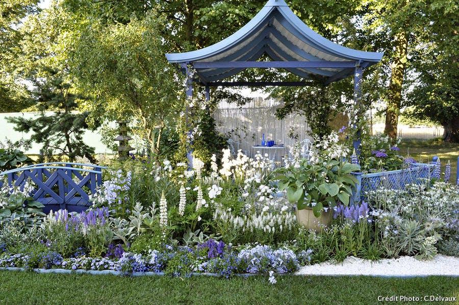 Un jardin bleu de Chine