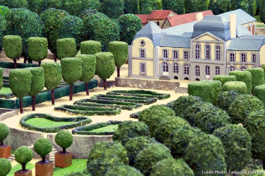 Maquette des jardins du Montmarin