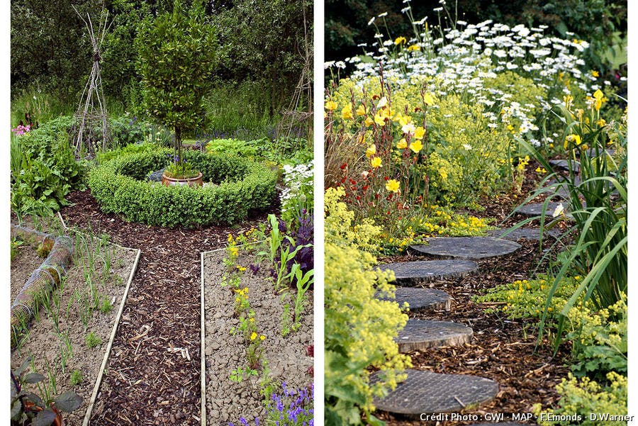All e de jardin bois pas japonais pierres mosa ques 4 mat riaux cr atifs - Allee de jardin en bois ...