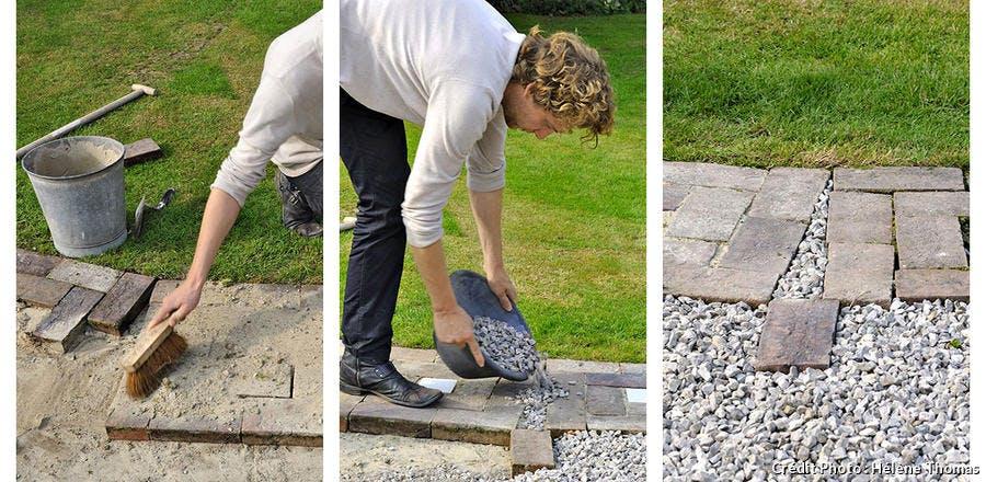 Leçon illustrée pour installer une allée de jardin