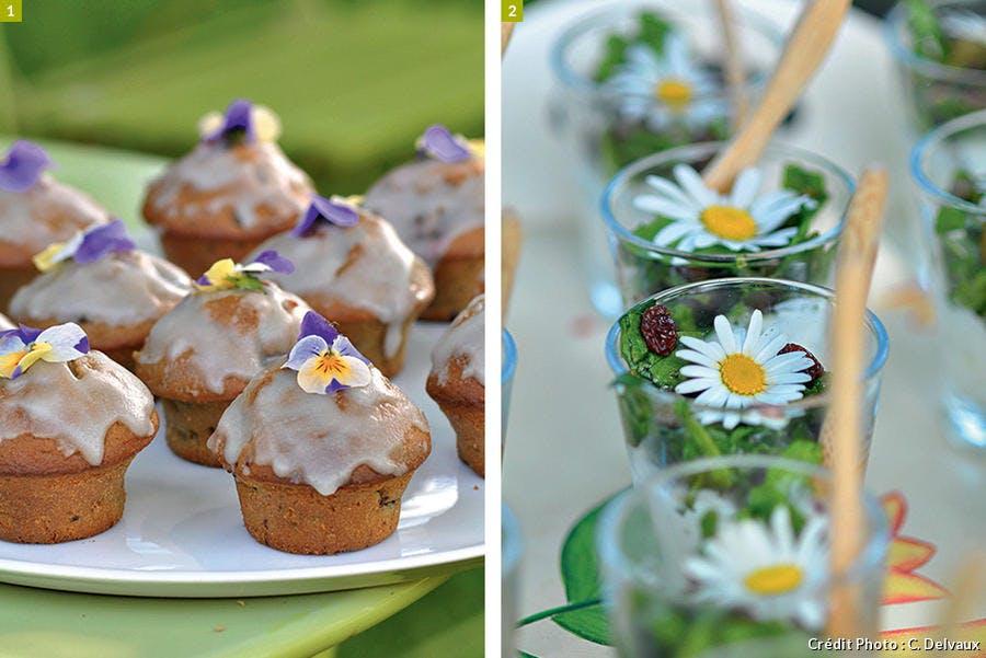 Verrines et muffins