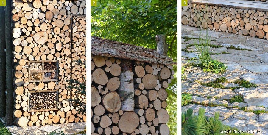Éléments du mur de bois