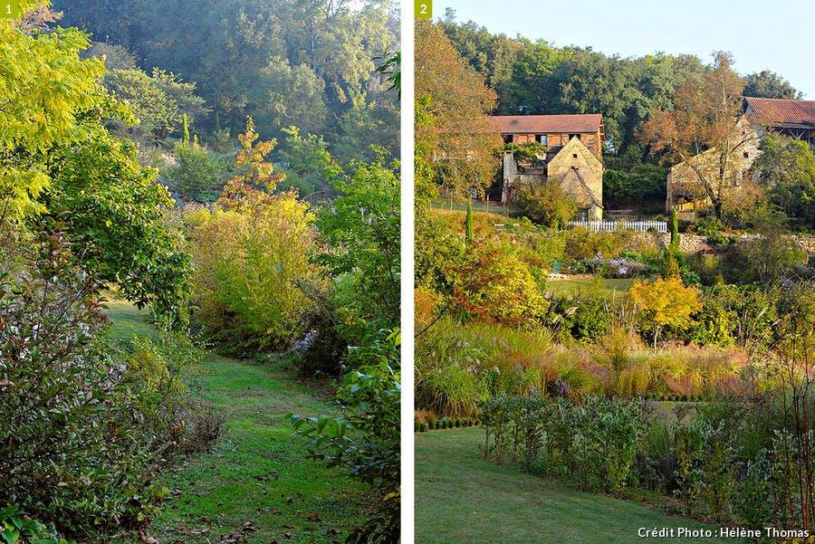 Vues d'un jardin d'automne