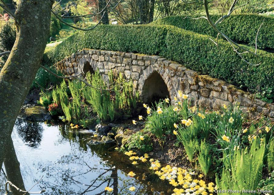 Le pont du jardin de Berchigranges