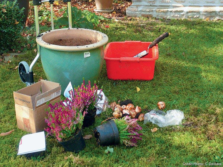 Équipement pour la plantation de bulbes