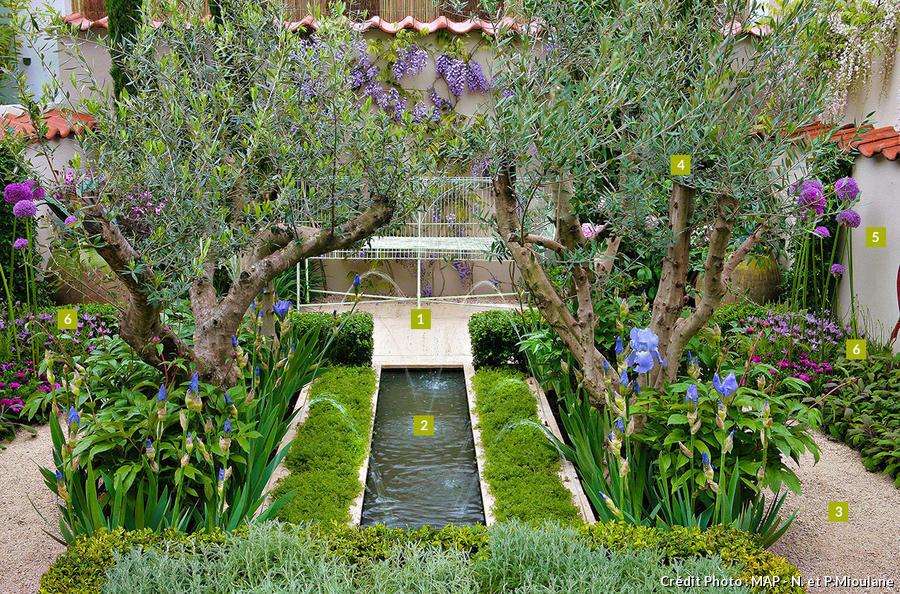 Aménagement d'un petit jardin paisible de 50m²