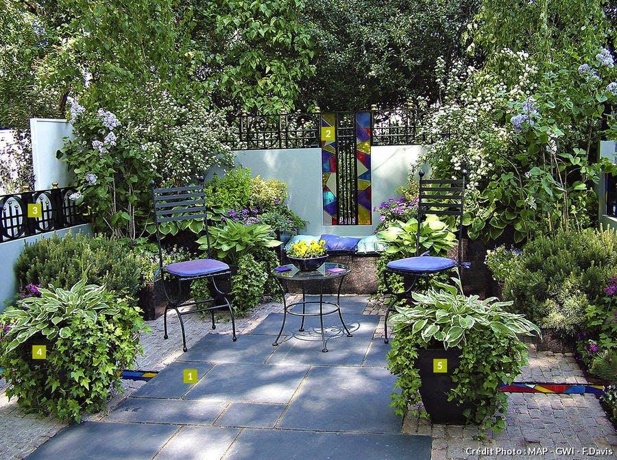 Idée d'aménagement d'un petit jardin intime de 20m²