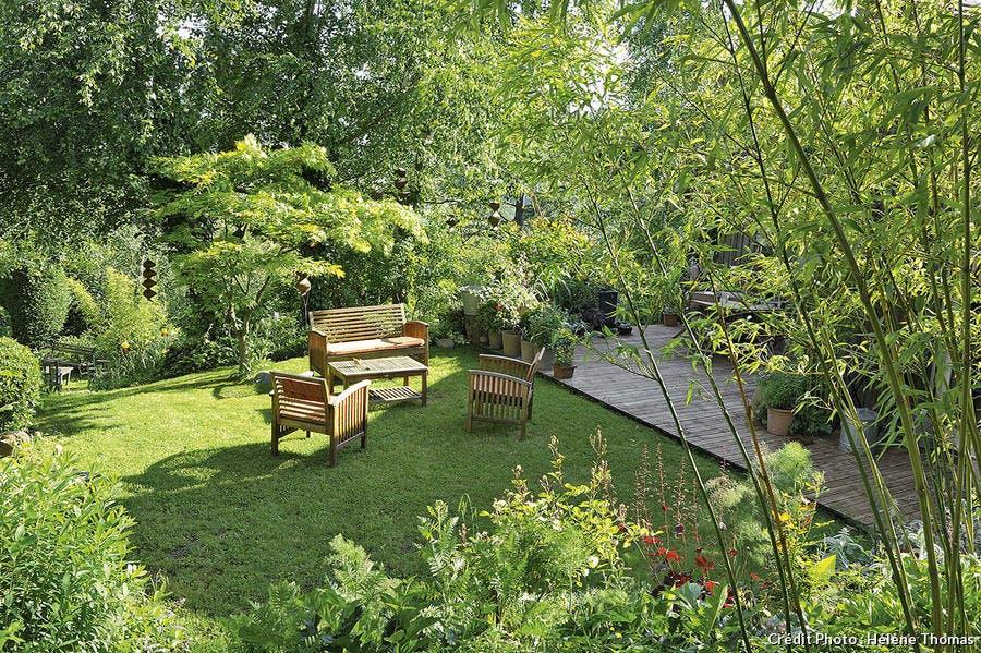 La terrasse du jardin de François