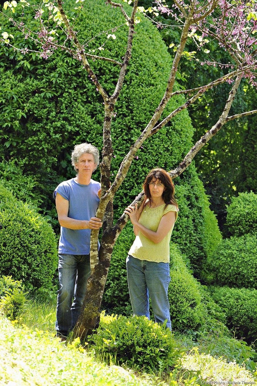 Les jardins de l'Albarède, Brigitte et Serge Lapouge
