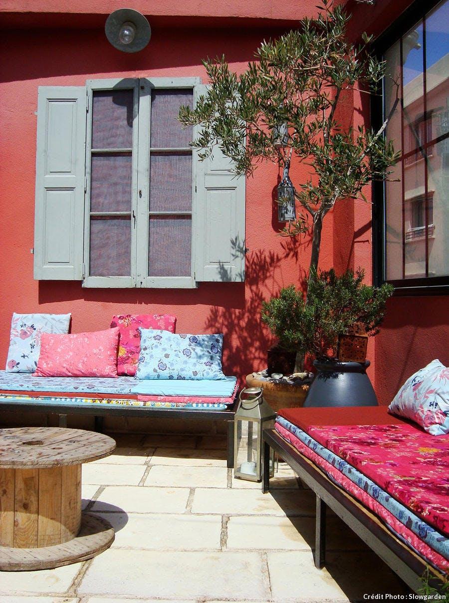 Terrasse à Marsielle, relooking, le résultat. Par Slowgarden.
