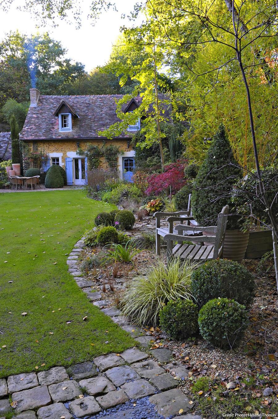 jardin de maison Petit Bordeaux, la maison