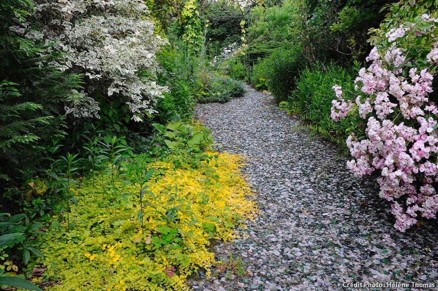 Verre pilé jardin loire