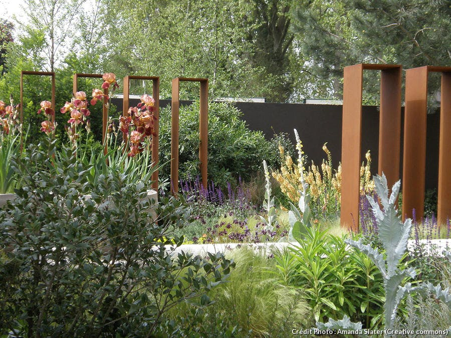 Jardin et portes en acier Corten
