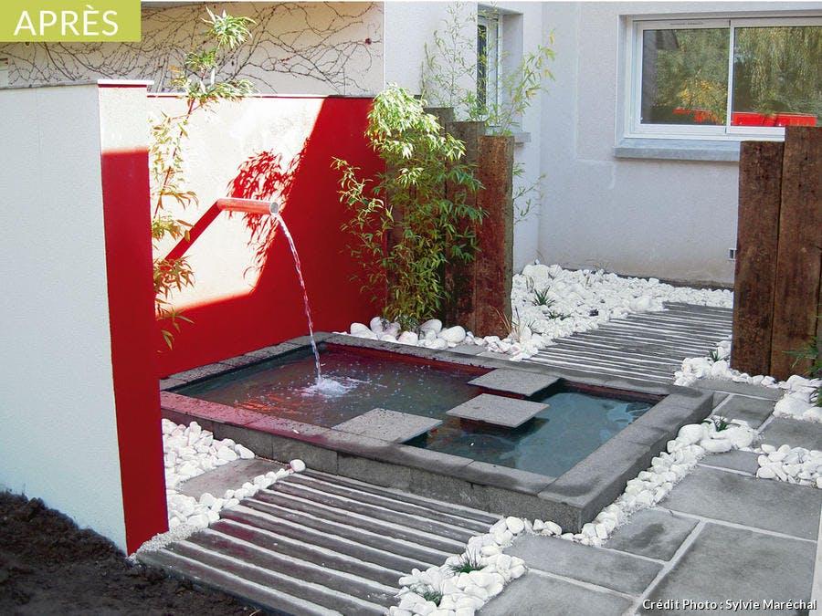 Fontaine pour l'aménagement d'un jardin zen