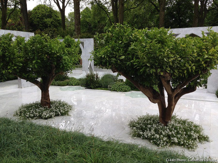 jardin Chelsea marbre blanc