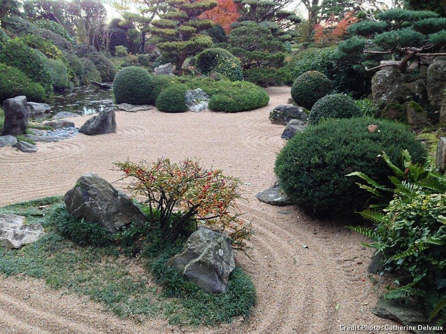 Jardin de méditation dans le jardin zen