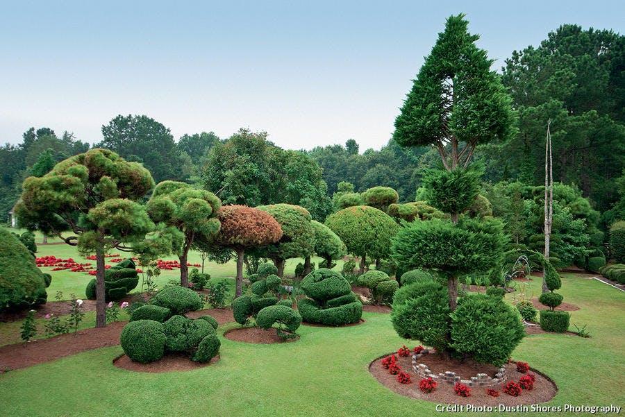 Jardin Pearl Fryer aux Etats-Unis