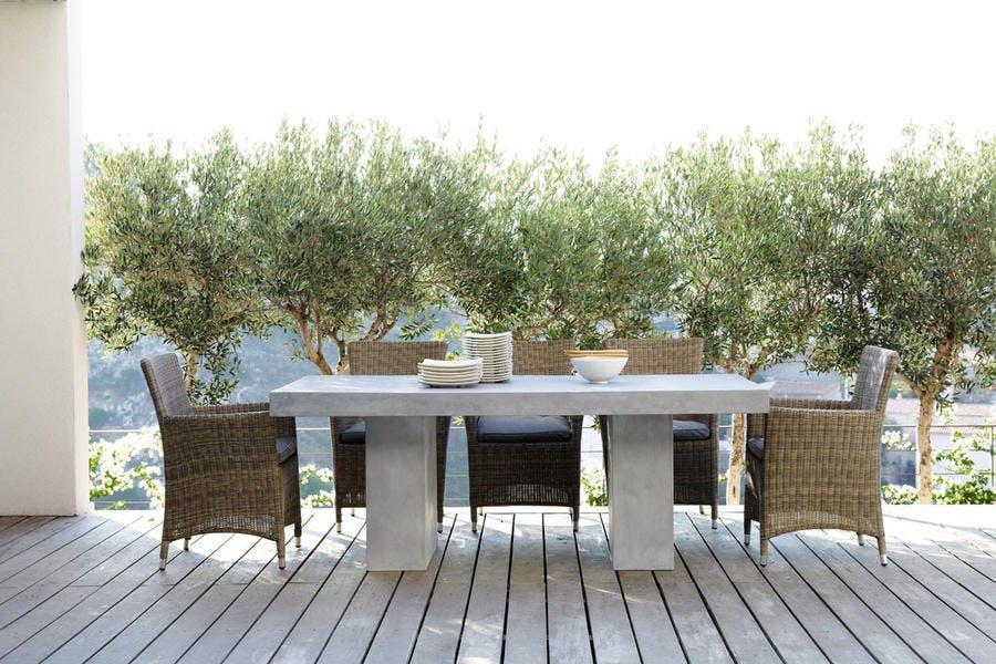 B ton pierre ardoise bruts de d co d tente jardin - Table jardin beton ...