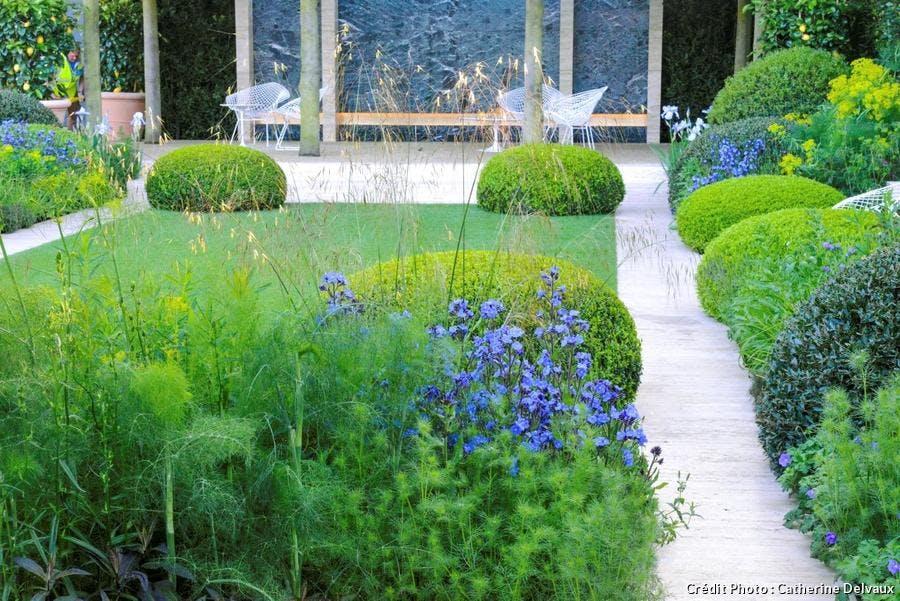Un jardin contemporain d\'inspiration italienne