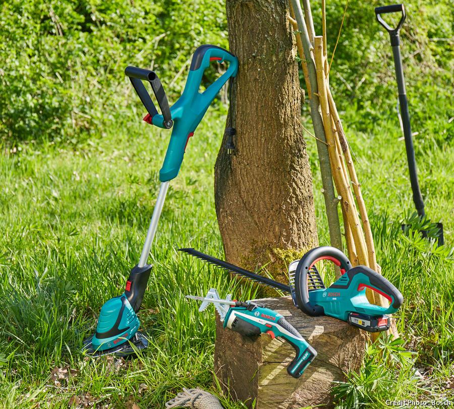 outils bosch pour la création d'un tipi de jardin