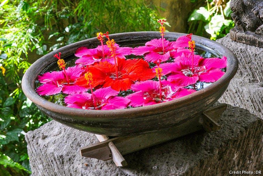 Vasque fleurie Orientale