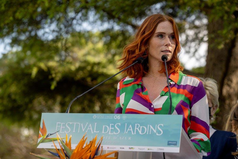 Audrey Fleurot Inauguration Festival des jardins