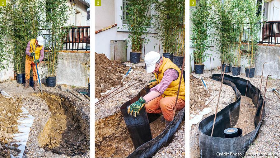Poser une barriere anti rhizome autour des bambous | Détente ...
