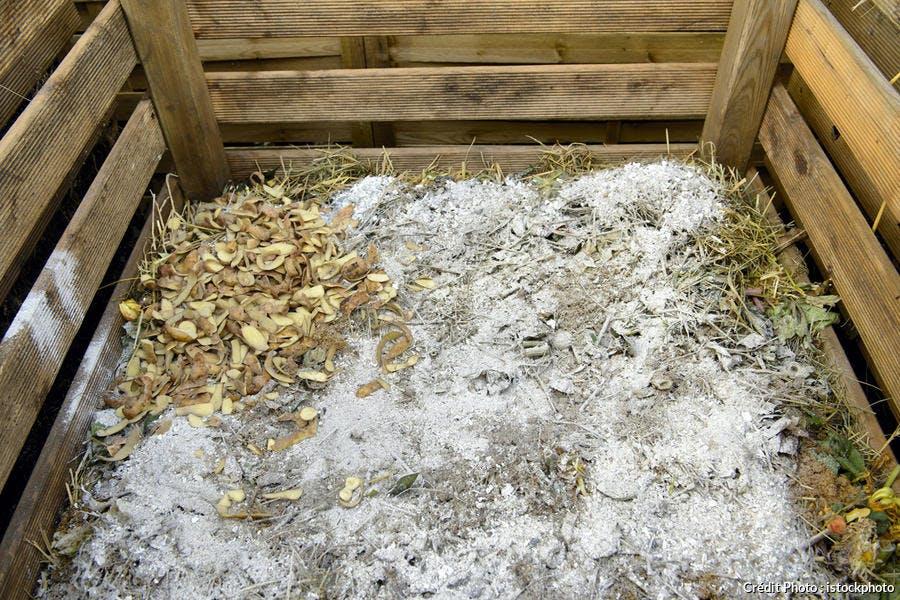 Cendre de bois en compost