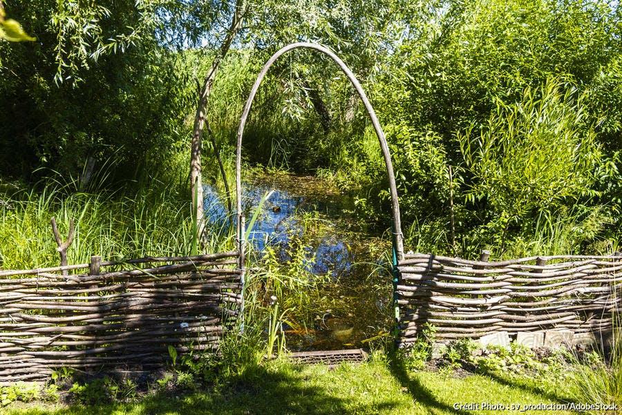 Bordure de jardin en bois