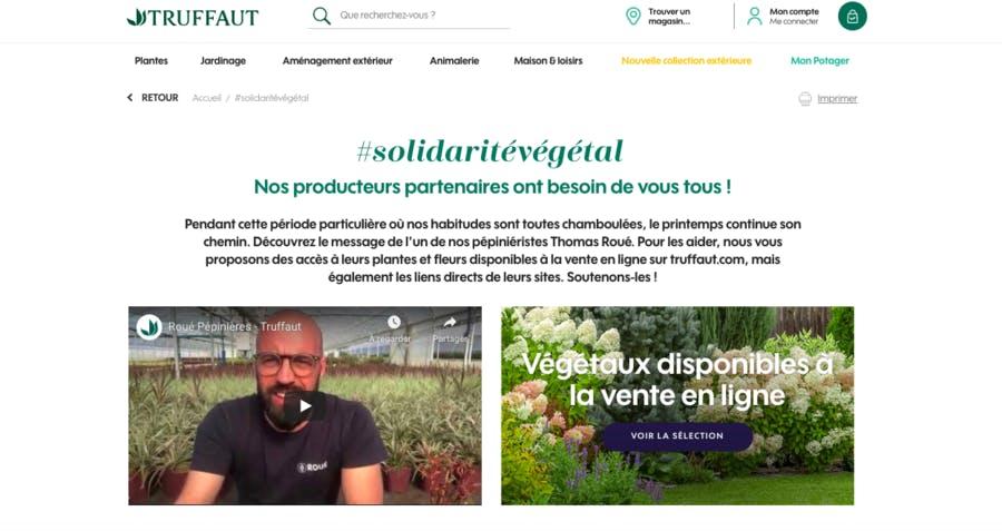 Site de vente de plantes Truffaut