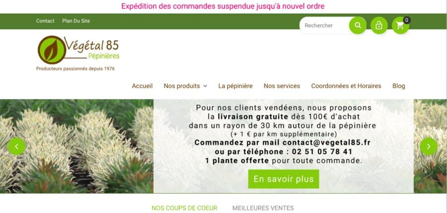 Vente de plantes végétal 85