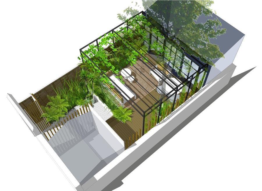 perspective du jardin de Paris