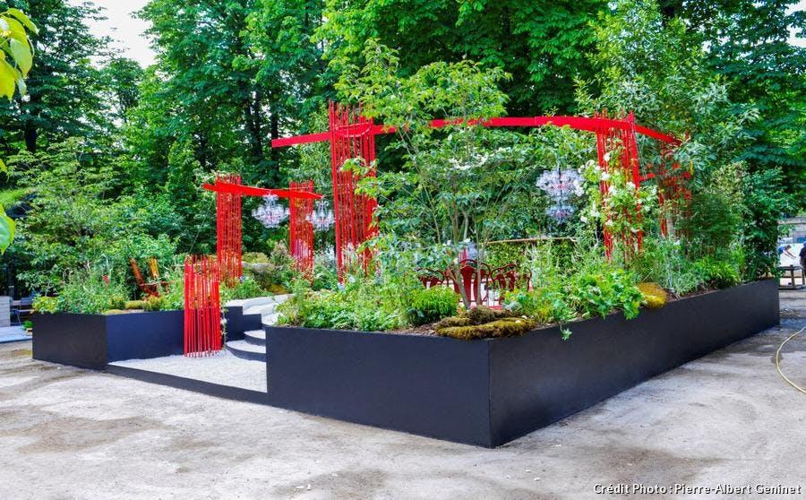 Jardin conçu par le paysagiste Alexandre Tonnerre pour l'édition 2017 de Jardins jardin.