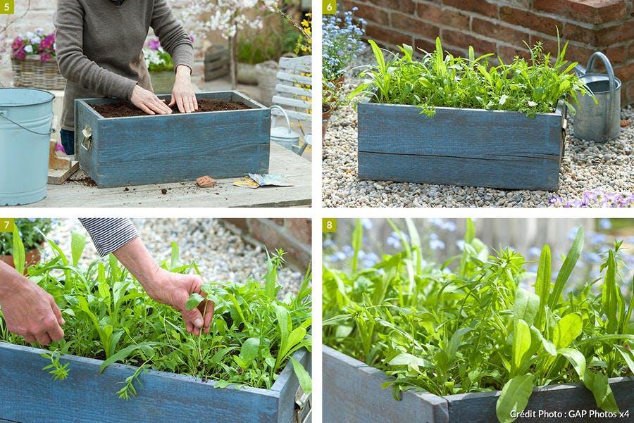 réalisation d'une jardinière champêtre