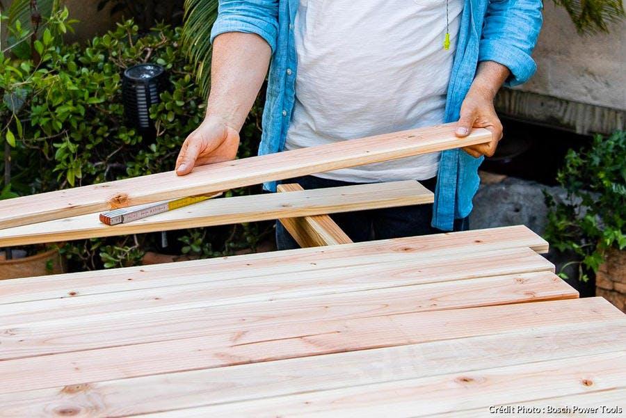 Réalisation du panneau de bois