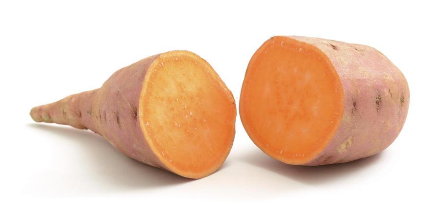 patate douce tranchée riche en fibres