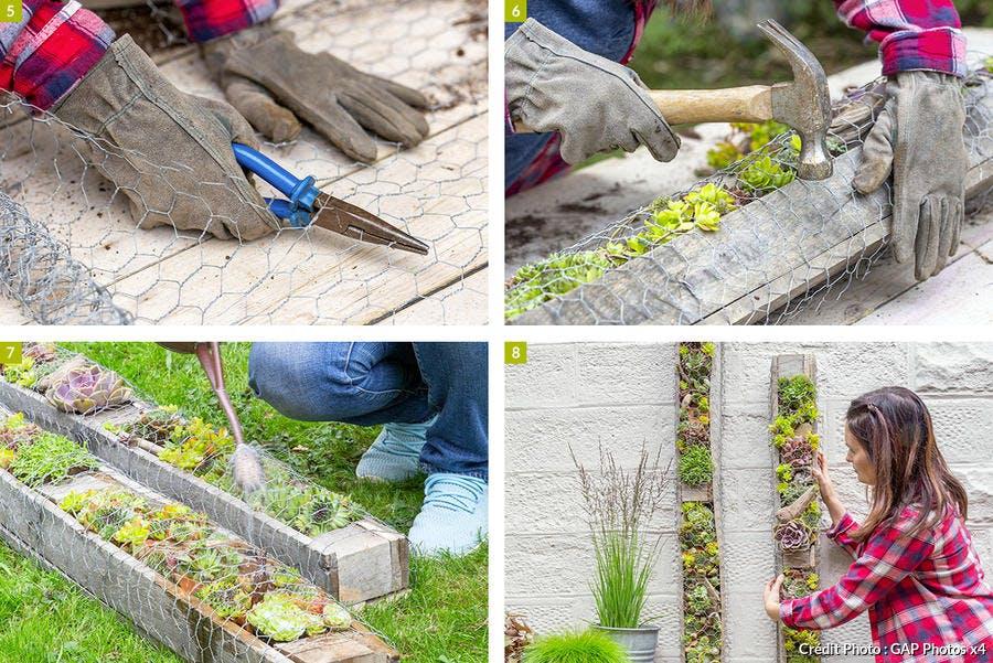 Finition du mur végétal extérieur