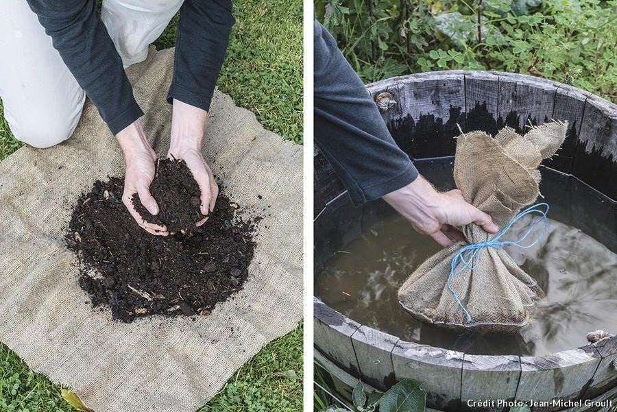 fabrication d'un thé de compost